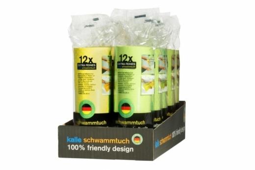 Schwammtuch-Haushaltsrolle 10x Kartons á 10 Rollen (5x Apfelgrün + 5x Gelb) Typ2