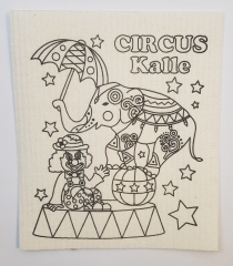 Sponge cloth for coloring - circus- 1 piece