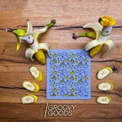 Designer-Schwammtuch trocken 1 Stk. -Happy Fruits-