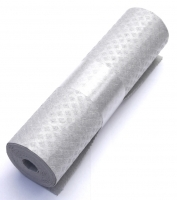 Schwammtuch-Haushaltsrolle 1x Rolle (Grau) Typ1 glatte Struktur