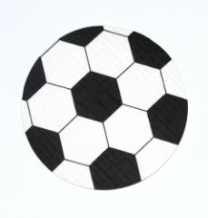 Schwammtuch-Untersetzer *Fussball* 12cm Durchmesser