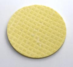 Schwammtuch-Untersetzer *gelb* ca. 12cm Durchmesser