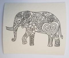 Schwammtuch zum ausmalen -Elefant- 1 Stück