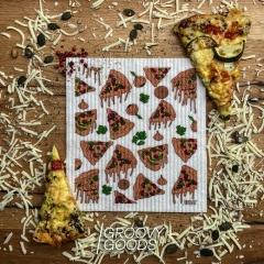 Designer-Schwammtuch trocken 1 Stk. -Pizza-