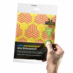 Sponge cloth² plus scouring power (1x pack of 3 towels)