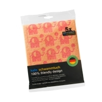 Designer sponge cloth (1 pack of 5 wipes) -Elefant- Rest sale!