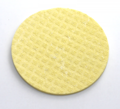 Schwammtuch trocken Ø 90mm 1 Stück -gelb-