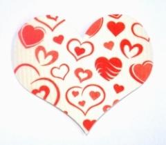 Schwammtuch-Untersetzer *Herz* weiß ca. 15 x 13cm